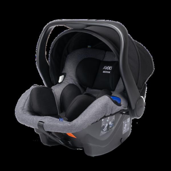 Axkid leichte Babyschale in grau