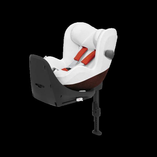 Sommerbezug Schonbezug Kindersitz Cybex Sirona Z i-Size weiß