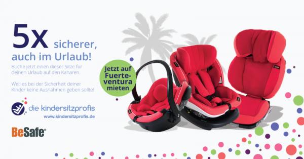 Kindersitze mieten Fuerteventura Urlaub