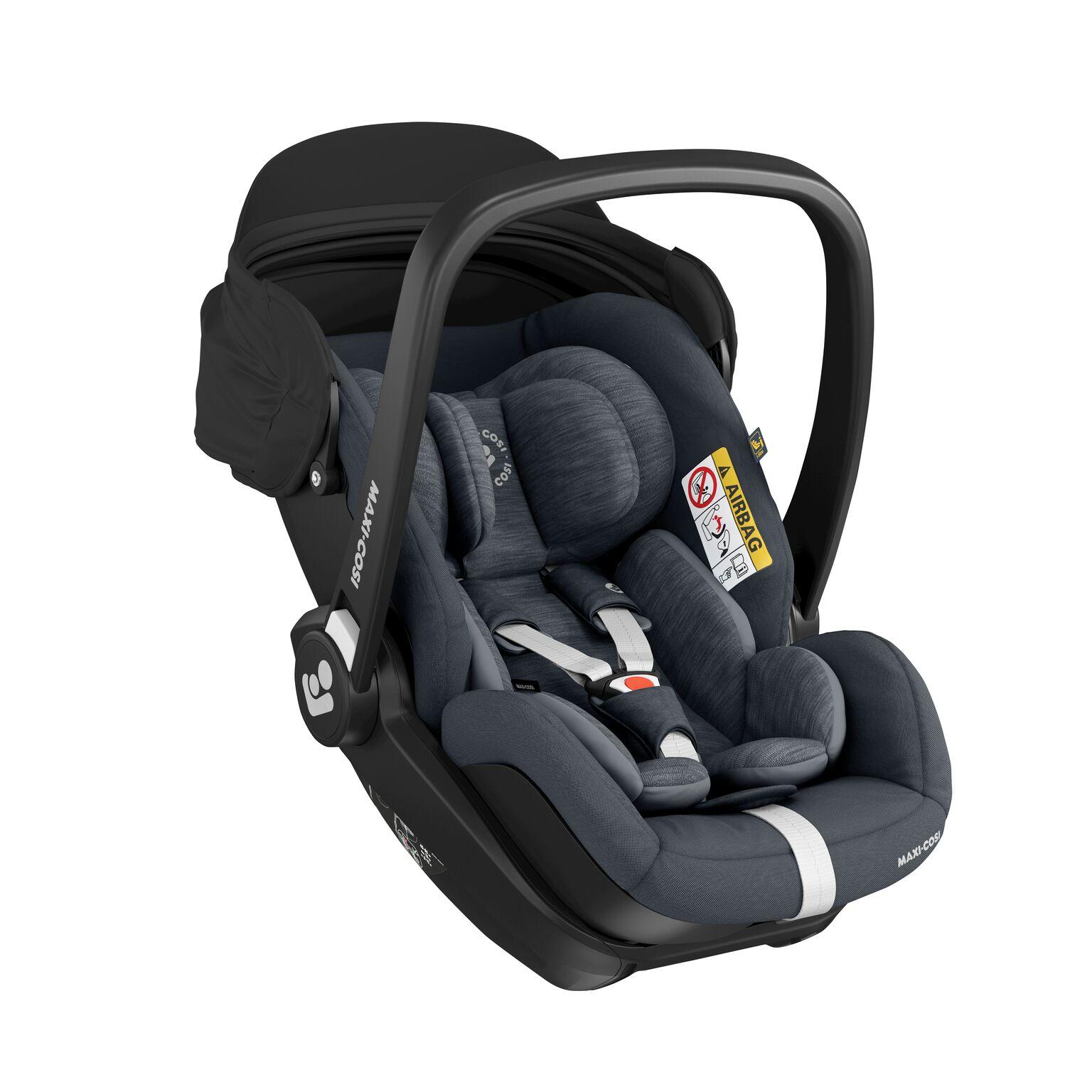 inkl 40-85 cm // 0-13 kg Marble Isofix Basisstation essential black Gruppe 0+ i-Size Baby-Autositz mit 157/° Liegefunktion 13 Monate Maxi-Cosi Marble Babyschale nutzbar ab der Geburt bis ca