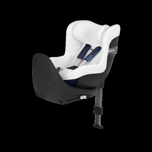 Sommerbezug Schonbezug Kindersitz Cybex Sirona S i-Size weiß