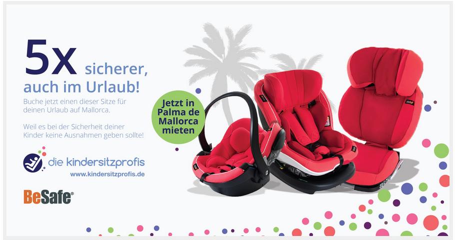 Sichere Kindersitze im Mallorca Urlaub