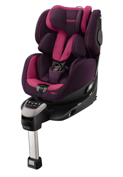 drehbarer Kindersitz von Recaro rückwärts lila pink