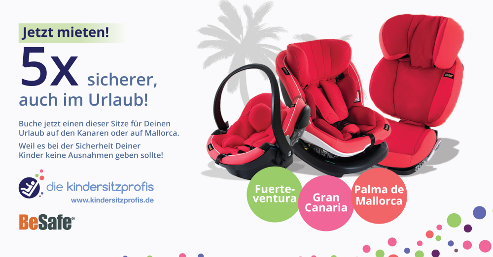 Promotion Vermietung Kindersitze Urlaub