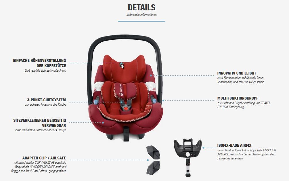 concord air safe eine robuste und sehr leichte babyschale die kindersitzprofis babyschalen. Black Bedroom Furniture Sets. Home Design Ideas