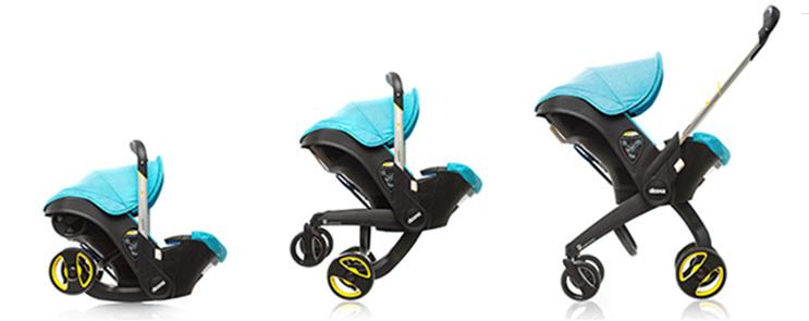 Babyschale zum Kinderwagen umbauen