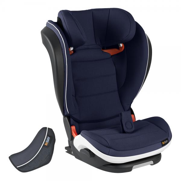 blauer Autokindersitz mit Rückenlehne BeSafe iZi Flex FIX Navy melange