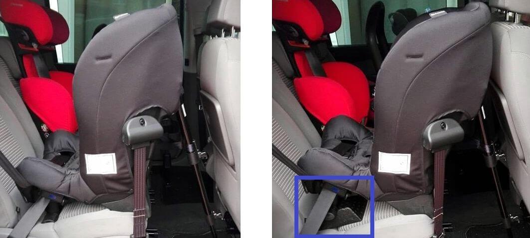 Kindersitz-nach-vornfallen-verhindern-Axkid-Minikid-Vergleich-Einbau-mit-und-ohne-Wedge