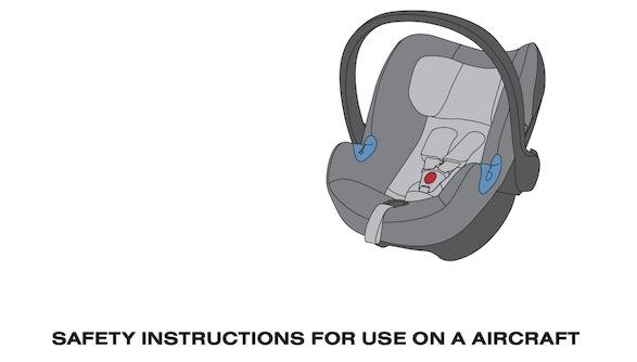 Kindersitz-Bedienungsanleitung fuer die Nutzung im Flugzeug